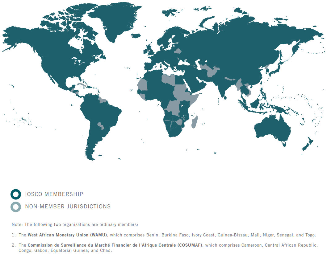 IOSCO Membership Map